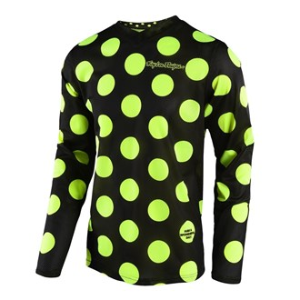 GP AIR JERSEY POLKA DOT BLK/FLO YEL | YOUTH